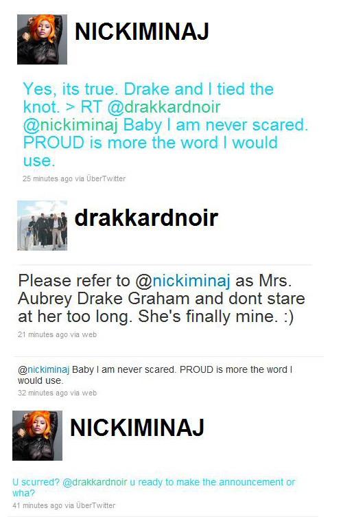 Nicki Minaj and Drake MARRIED.